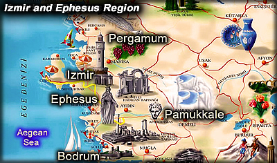Providing daily tours and travel services in Izmir and Ephesus region