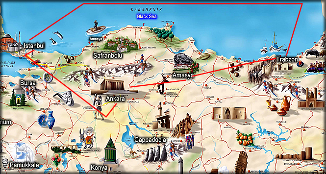 Tour of Ankara Amasya Trabzon 6Day tour Turkey travel company