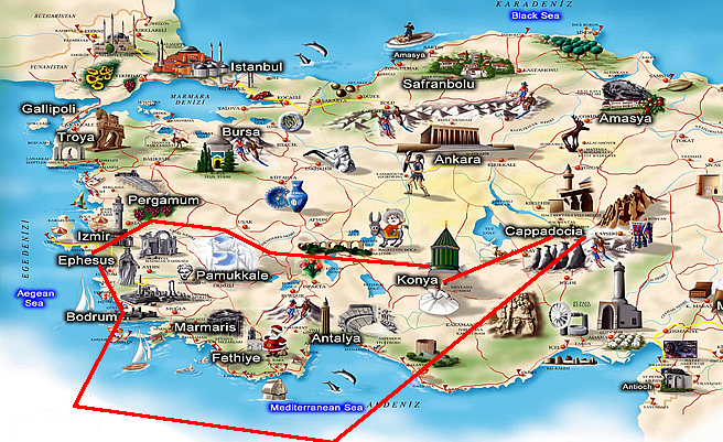 Tours from Bodrum to Ephesus Pamukkale and Cappadocia 6 Day tour